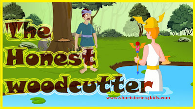 The Honest Woodcutter Short story with pictures and pdf
