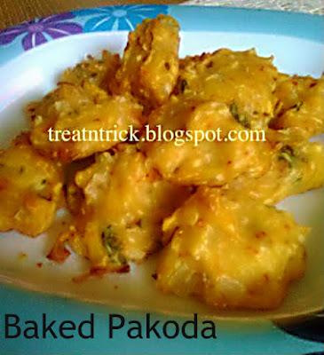 Baked Pakoda Recipe @ treatntrick.blogspot.com