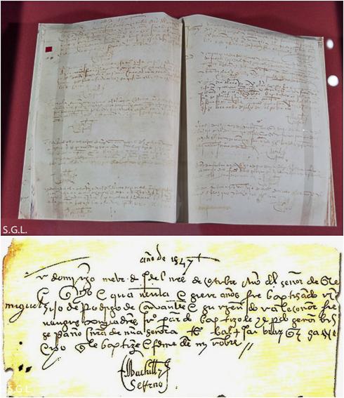 Partida de Nacimiento de Cervantes. Alcala de Henares