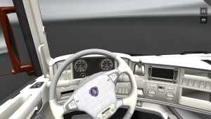 White leather interior for Scania by markos807