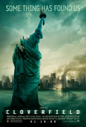 Poster Of Cloverfield 2008 720p Hindi BRRip Dual Audio Full Movie Download