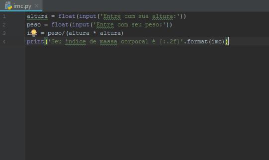 Script Python IMC