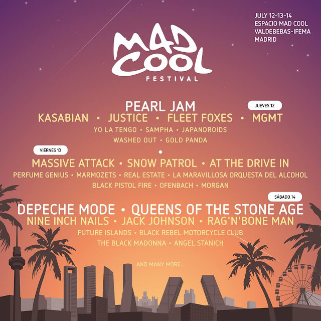 Mad Cool 2018, cartel
