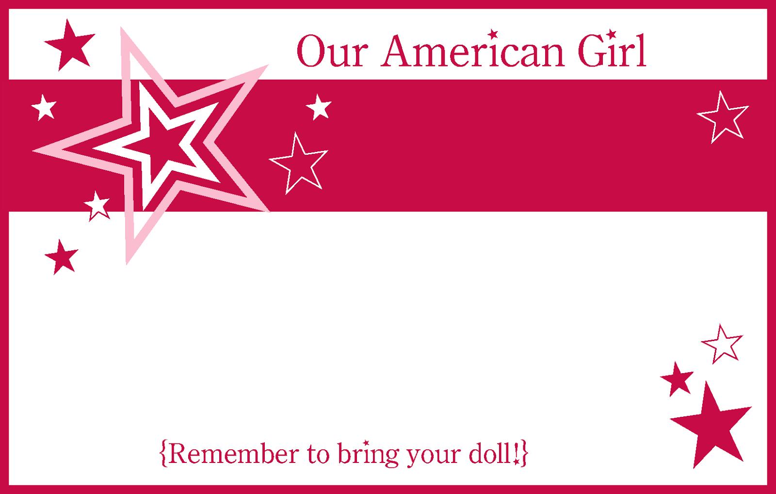 American Girl Craft Birthday Party Ideas