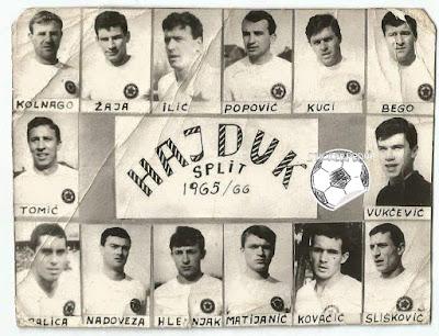 Hajduk Split album sličice 1965/66