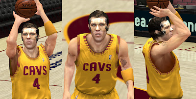 NBA 2K13 Luke Walton Face Mask Mod
