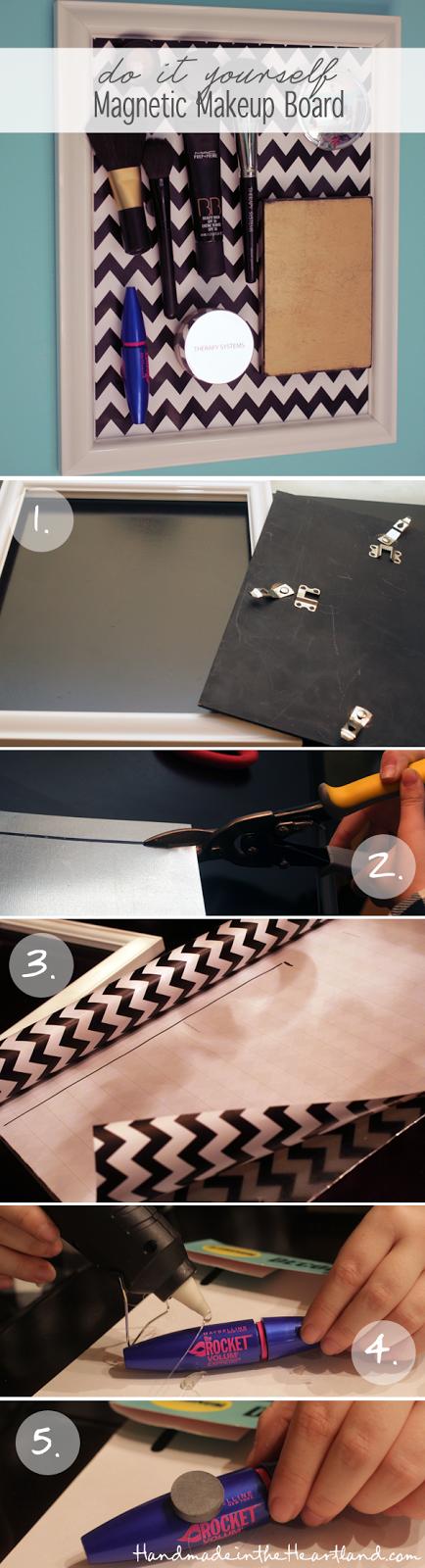 DIY Magnetic Makeup Board Tutorial