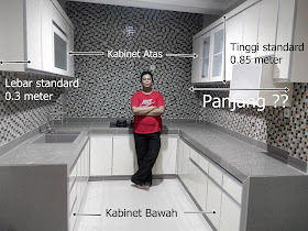 penjelasan kitchen set per meter lari