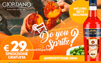 Logo Giordano Vini ''Offerta Spritz'': spedizione gratuita e 6 bicchieri in regalo ( solo € 29,90) e ...