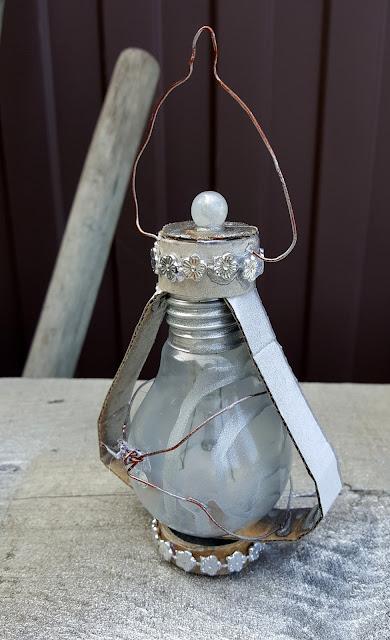альтер скрап, из лампочки, декор