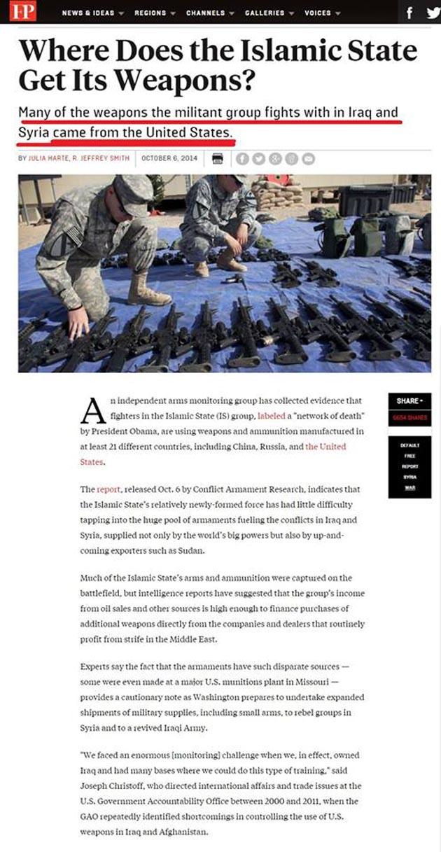 Οι φόροι των Αμερικανών εξοπλίζουν το ISIS