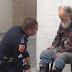 Un vagabundo se opone a abandonar una tienda, cuando un policía sabe la razón no puede evitar sentirse conmovido