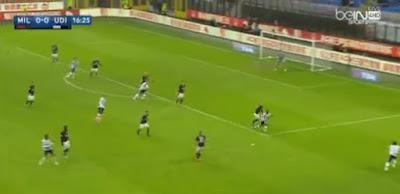 اهداف مباراة ميلان و أودينيزي 1-1