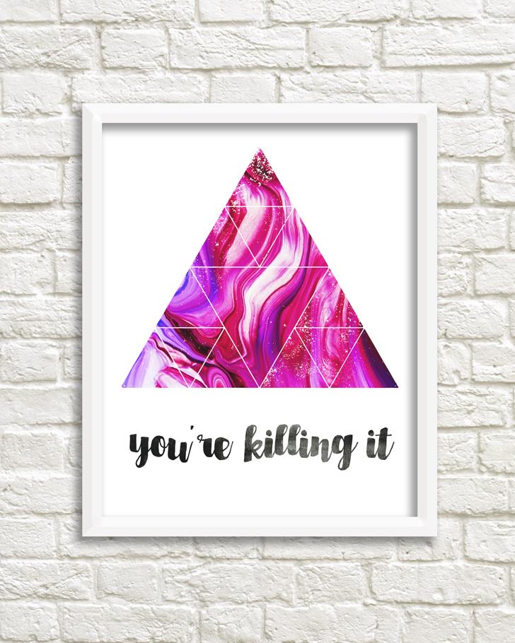 3 Geometric Encouragement Prints