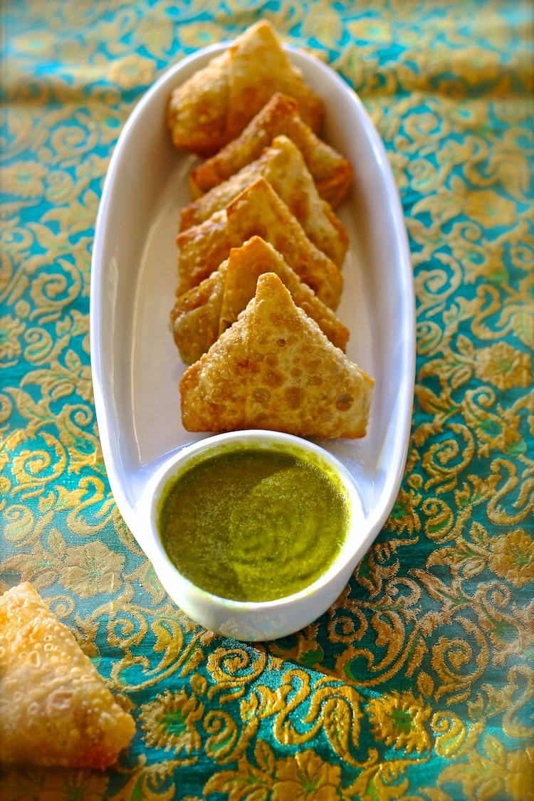 Blessings From My Kitchen: Beef samosas with green chutney  Samosa