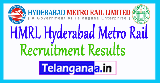 HMR Results 2017 Hyderabad Metro Rail Exam Cut Off 2017
