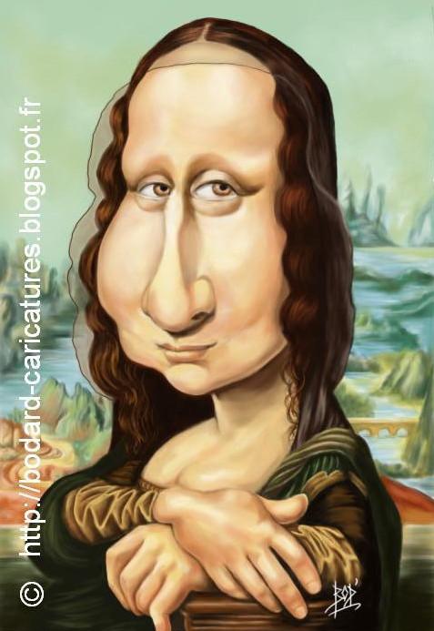 Célèbre LES CARICATURES DE BOD': La Joconde / Mona Lisa US54