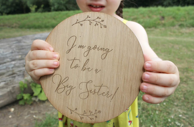 A review of the Here's to Us I'm Going To Be A Big Sister wooden sign
