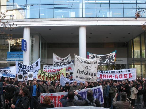 Argentina: Paro general de los trabajadores de prensa de Buenos Aires y movilización a Clarín