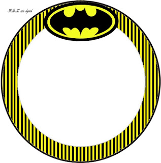 Batman in Black and Yellow, Toppers or Free Printable Candy Bar  Labels.