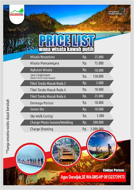 Kawah Putih Tiket Fasilitas Penginapan Wisata Rumah Makan di Ciwidey Bandung update Maret 2019