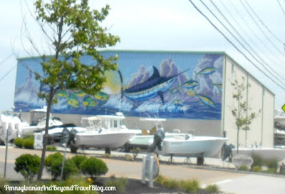 Wall Mural by Artist David Dunleavy in Stone Harbor New Jersey
