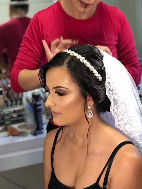 penteado para fotos casamento