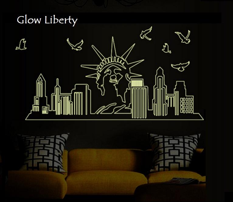 via ristiani grosir wallsticker: readystock glow in the dark 60x90 tsp