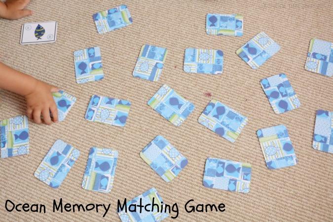 preschool memory card game printable