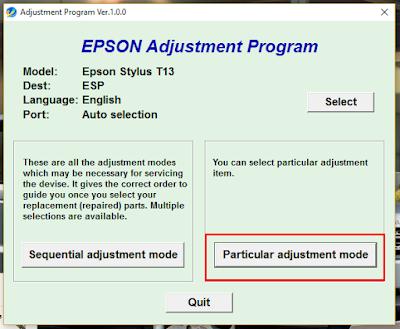 Epson T13 Resetter