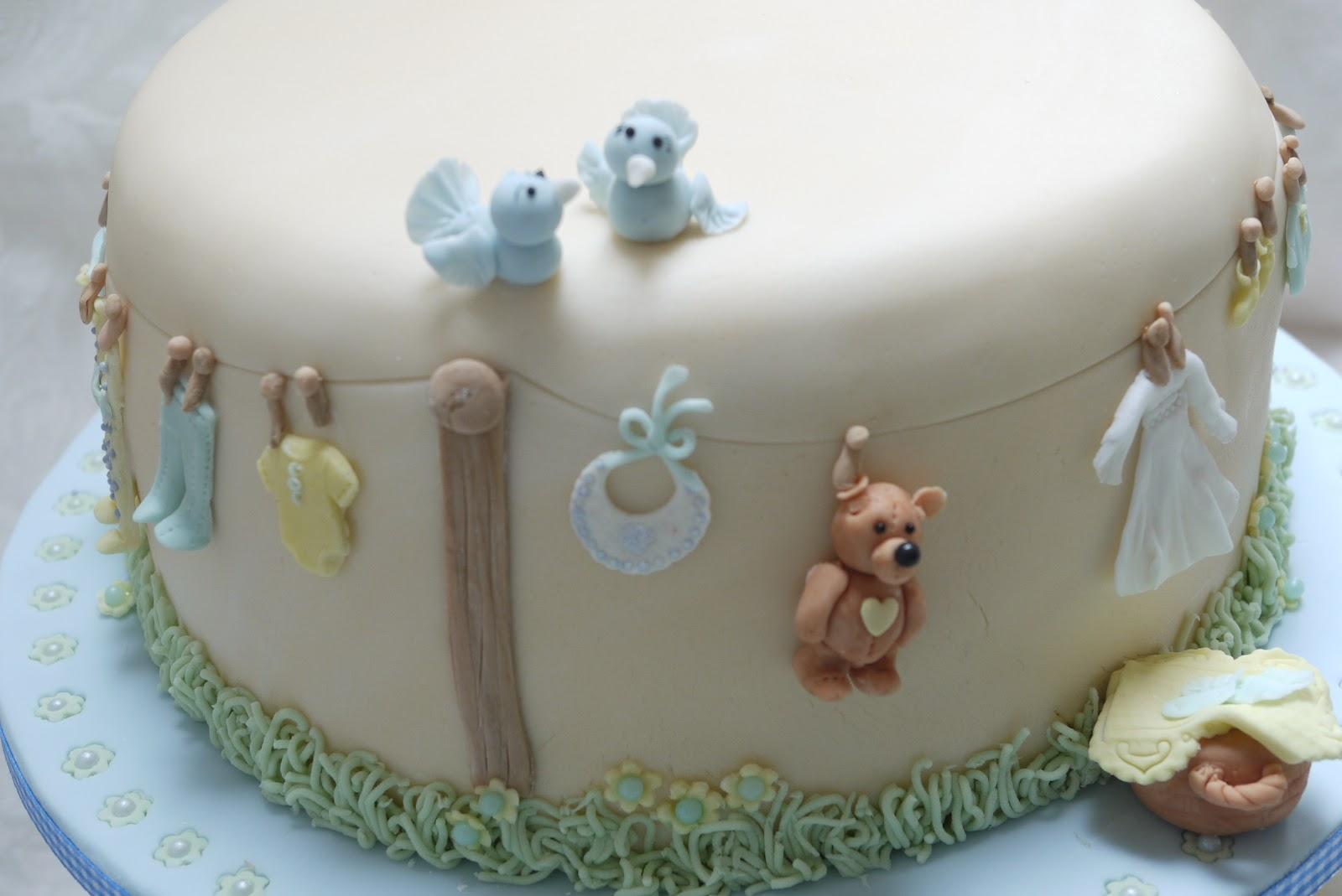 Brown Baby Shower Cake