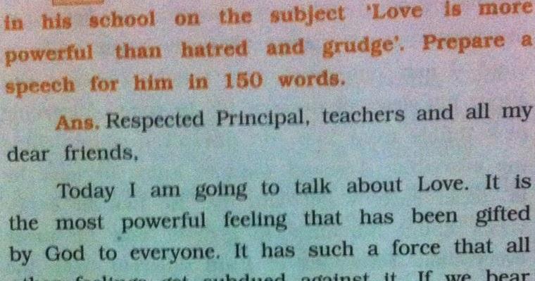 a speech about love