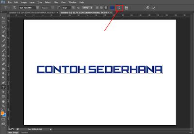 Cara Membuat Tulisan Melengkung di Photoshop 2