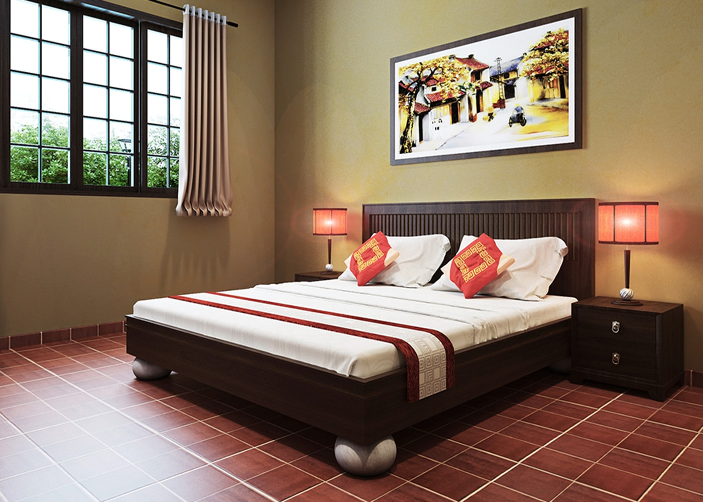 Phòng ngủ căn Villa