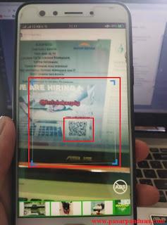 arahkan hp pada barcode atau kode QR