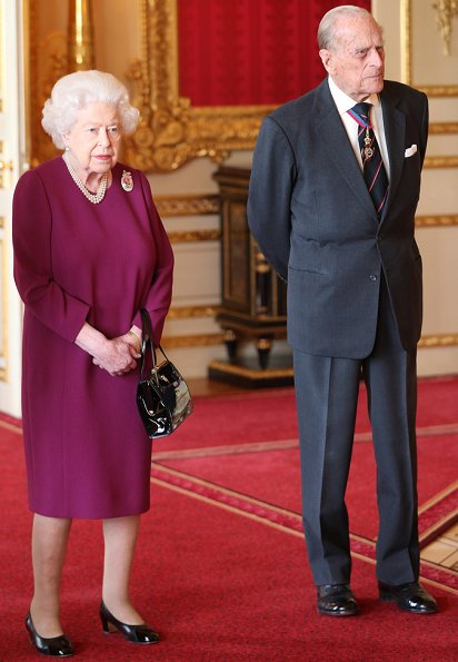 The Duke of Edinburgh, who has been a Member of the Order of Merit