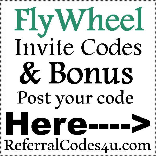 Flywheel Sign Up Bonus 2016-2021, FlyWheel.com Invite Codes, FlyWheel Coupon Codes July, August, September