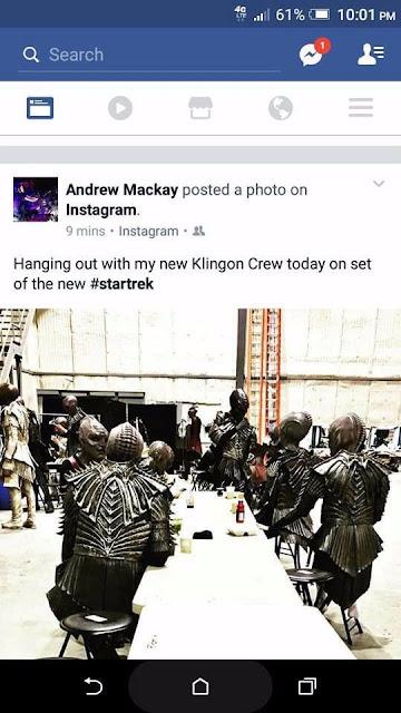 Uno scatto rubato dai set di Discovery mostra il nuovo aspetto dei Klingon- TG TREK: Notizie, Novità, News da Star Trek