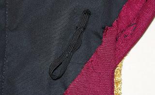 TNG season 1 admiral jacket - elastic loops
