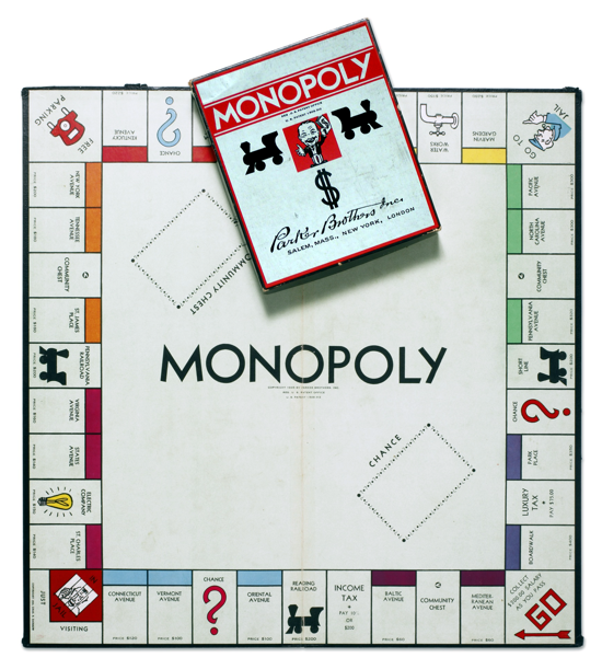 Monopoly 1935 box and board
