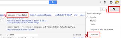 Gmail comptes et importation