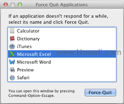 How to Ctrl Alt Delete on Mac Force Quit an application on Mac
