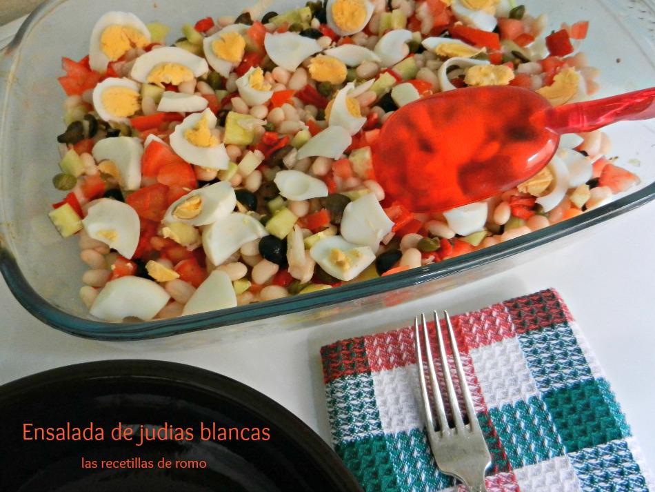 Ensalada de judias blancas las recetillas de romo - Ensalada fria de judias blancas ...