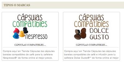 Cápsulas compatibles Nespresso y Dolce Gusto