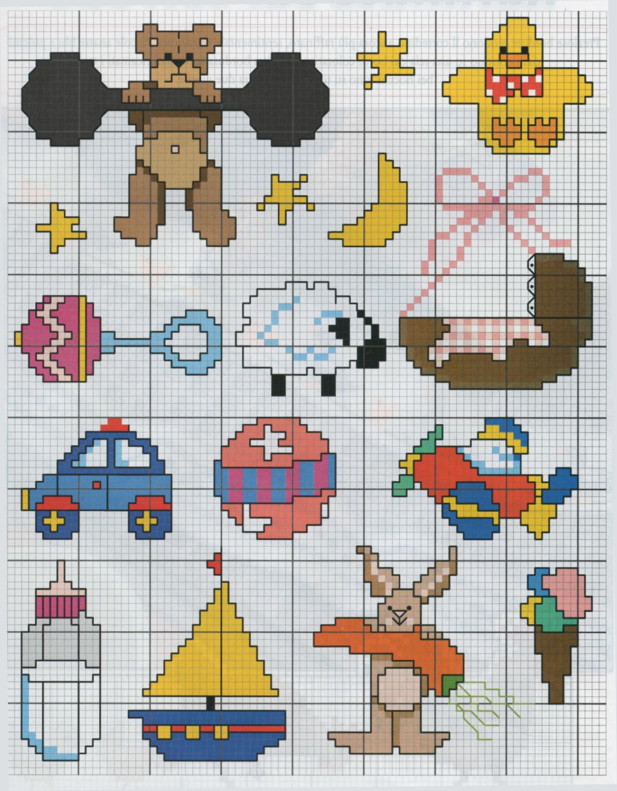 Ben noto Professione Donna: Schema punto croce: Piccoli ricami per bambini VX39