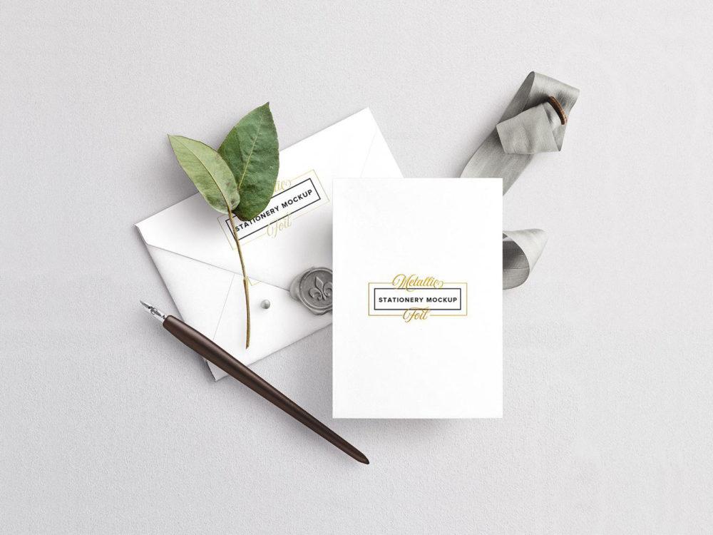 Wedding Card Envelope Mockup
