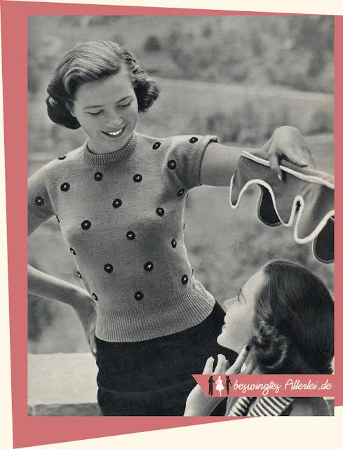 The Vintage Pattern Files: Free 1950's Knitting Pattern - Damenpullover