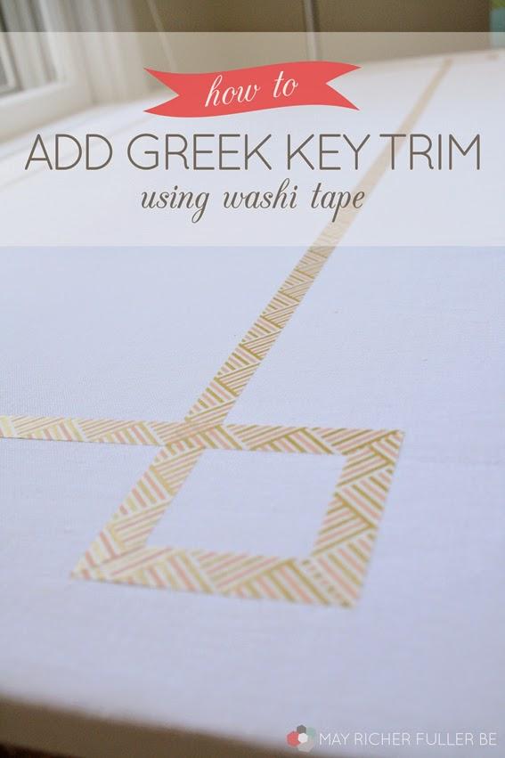 how to add greek key trim using washi tape. Black Bedroom Furniture Sets. Home Design Ideas