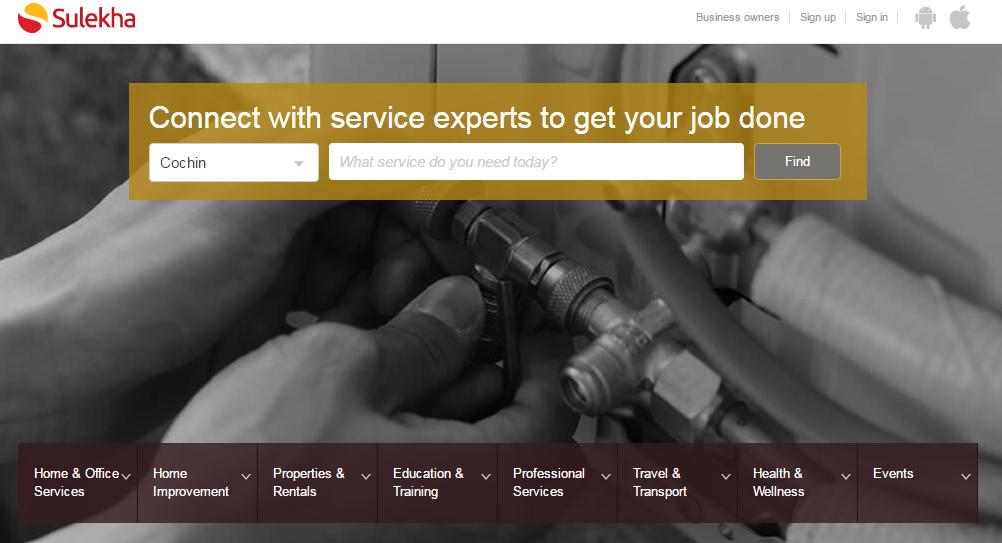 Sulekha website homepage