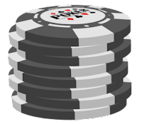 grey poker chip stack